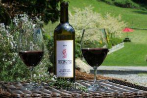 Вино красное Каберне Совиньон (Cabernet Sauvignon). Вино в бокале.