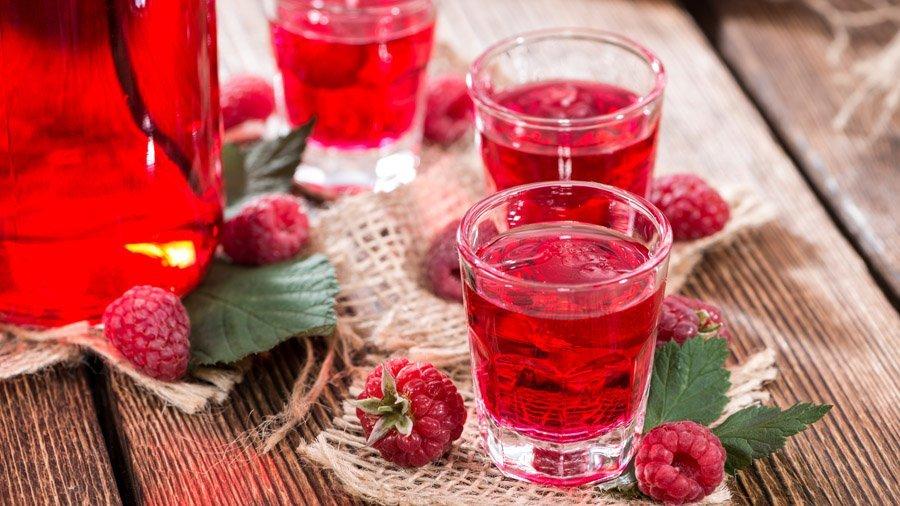 Малиновые настойки, ликеры, вино