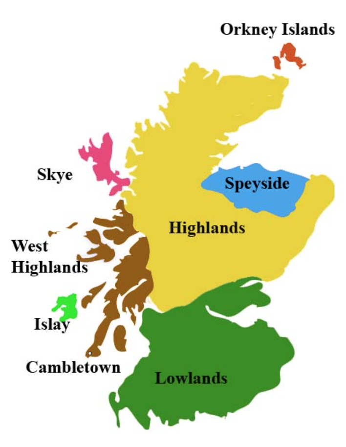 Районы производства шотландского виски